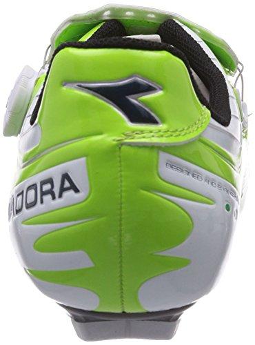 Diadora VORTEX- COMP, Scarpe da ciclismo donna Verde (lime/blau 5709)