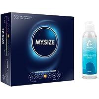 Preisvergleich für VisitBuy Sparbox My Size 57 (36 Kondome) inklusive 100 ml Gleitgel, 2 Stück