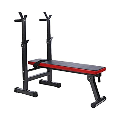 Accessories Weight Bench , Vanpower Shoulder Folding Home Heavy Duty Multiuse Barbell Flat Exercise Gym by Vanpower
