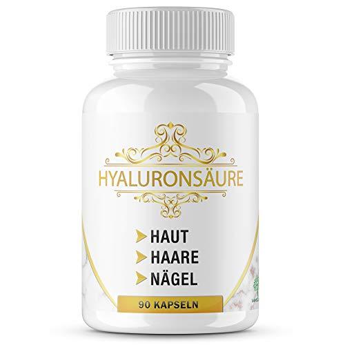 MediCares® Hyaluronsäure 360mg + Biotin | Selen | Vitamin D - 90 Kapseln (für 3 Monate) - Anti Aging Formel für gesunde Haut, Haar, Nägel & Gelenke - Made in Germany