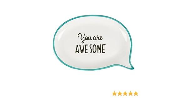Bou313 You are Awesome Sweet Speech Boite /à bijoux Bleu