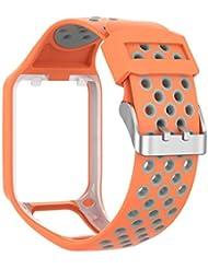 FeiliandaJJ(TM) Watch Band Compatible TomTom Watch Silicone Watch Band Replacement Wrist Strap For TomTom Adventurer / Golfer2/Runner 3 Watch