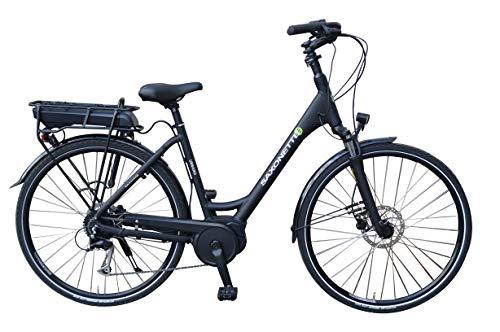 SAXONETTE Urbano E-Bike Pedelec Elektrofahrrad m. Bosch Active Line, Shimano 9G, hydraulische Scheibenbremsen (Rahmenhöhe 55cm)