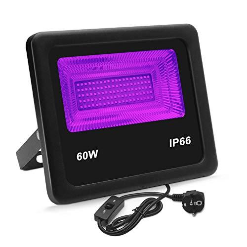 ARTKIDA UV LED Luz Negra Ultravioleta Lámpara Violeta 60W 100 Leds Luz de La Etapa Impermeable Barra...