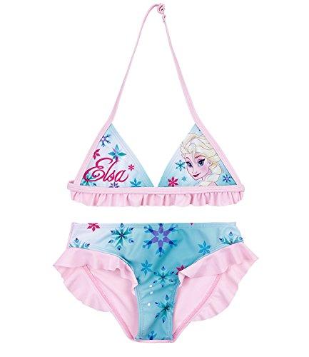Disney Die Eiskönigin Elsa & Anna Mädchen Bikini - türkis - 128 (Mädchen Frozen Bikini)