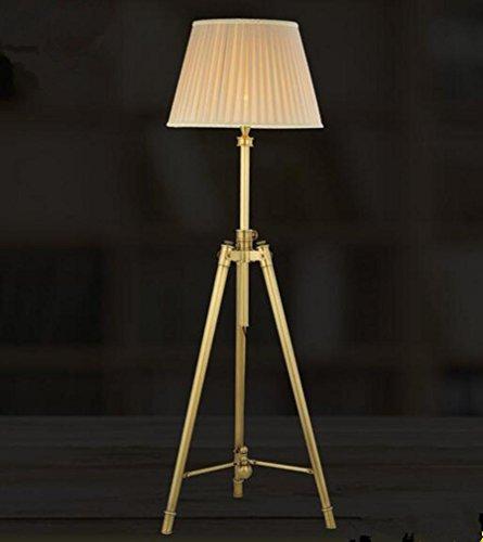 MULANG Modernes kreatives Metalltuch Justierbares Stativ LED Stehleuchte Wohnzimmer Schlafzimmer Büro-Studio-Landhaus Hotel-Galerie-Leselampe , golden