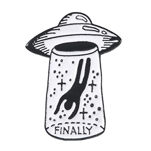 Hacoly Brooch Pin Damen Hemd Strass Brosche Boutique Broschen Schmuck UFO Alien Anstecknadel Dekoration für Boutique Mantel Besetzt Schals Tücher Oder ()