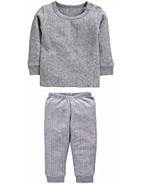 NEVA Kids Winter wear Thermal Upper and Lower Body Warmer Set Pack of 1
