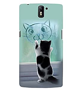 PRINTSWAG CAT Designer Back Cover Case for ONE PLUS ONE