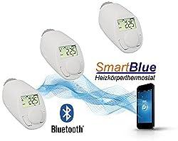 3er-Set BLUETOOTH Smart Elektronikheizkörper-Thermostat mit App-Steuerung