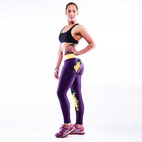 GGTBOUTIQUE - Legging de sport - Femme Multicolore Bigarré Multicolore - Galaxy