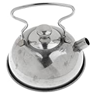 Homyl Kids Kitchen Cookware Playset - Stainless Steel Stovetop Coffee & Tea Kettle