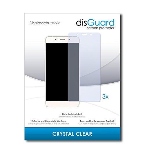 disGuard® Bildschirmschutzfolie [Crystal Clear] kompatibel mit Hisense C1 [3 Stück] Kristallklar, Transparent, Unsichtbar, Extrem Kratzfest, Anti-Fingerabdruck - Panzerglas Folie, Schutzfolie