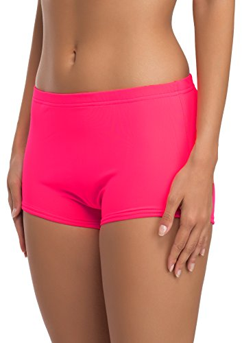 Merry Style Damen Badeshorts Bikinihose Modell L23L1 (Neonrosa (3228), 36)