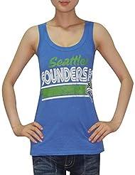 MLS para mujer Seattle Sounders delf.c, pwshop cuello redondo-T-Shirt (vintage look), MLS, mujer, color Azul - azul, tamaño XL