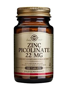 Solgar Zinc Picolinate 22 Mg Tablets, 100 from Solgar