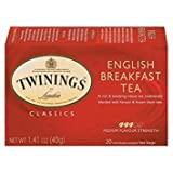 Twinings of London - Tè della prima colazione inglese dei classici - 20Bustine di tè