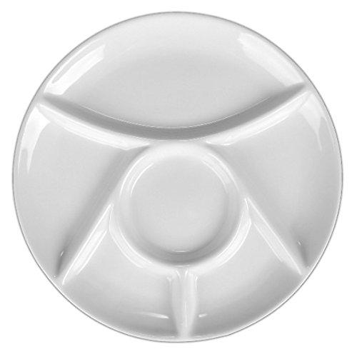 Holst Porzellan MP 300 Fondueteller 23 cm, weiß, 23.5 x 23.5 x 2 cm