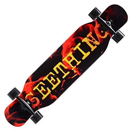 FGKING Skateboards,40 Zoll Pro Complete Skateboard, 9 Ply Maple Wood Double Kick Concave Skateboards, Skateboard Deck für Extremsport und Outdoor,0 -