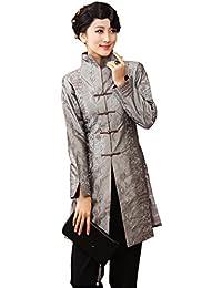 JTC Women Long Sleeves Cheongsam Tops Autumn Tang Suit Wind Coat