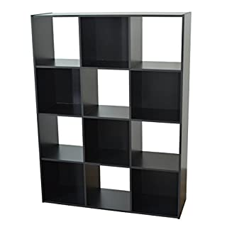 Alsapan Regal, Holz, schwarz, 92x 30x 123cm