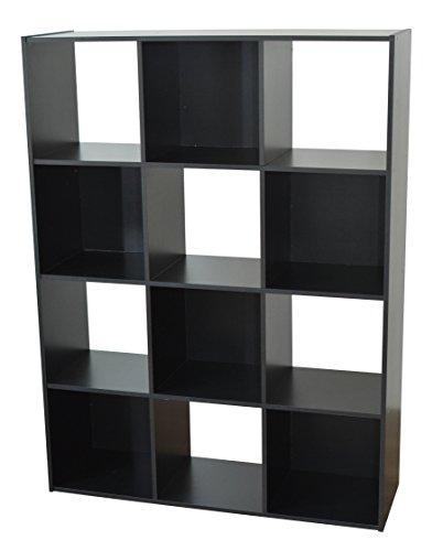 Alsapan Etagère, Bois, Noir, 92 x 30 x 123 cm
