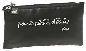 Quo Vadis, Trousse Fourre-Tout plat BEN en cuir, 22x12cm, 4 visuels disponibles