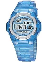 El reloj electrónico de los niños / impermeabiliza / los relojes de la jalea / color multi-funcional / del caramelo / reloj de los deportes , deep blue