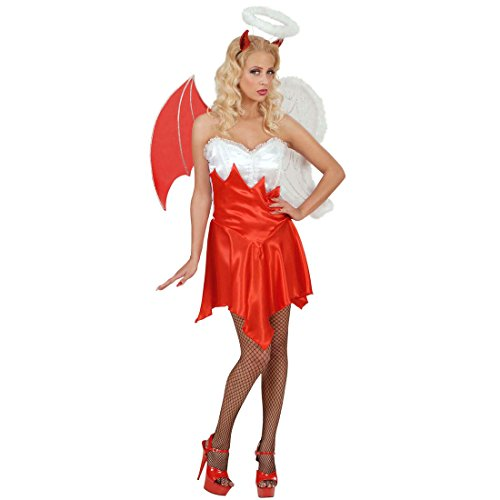 Himmlischen Teufel Für Kostüm Erwachsene - Amakando Himmlisches Teufelskostüm Teuflisches Engelskostüm M 38/40 Sexy Kostüm Engel und Teufel Damenkostüm Himmel und Höhle mit Flügeln