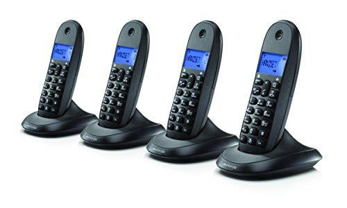 Motorola MOT31C1004N - Teléfono inalámbrico DECT, color negro