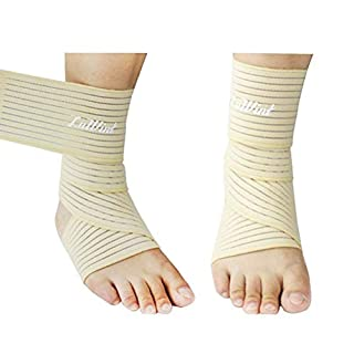 Aoneky Ankle Support Foot Braces with Wrap Around Strap(1 Pair 2 Pcs) (fleshcolor)