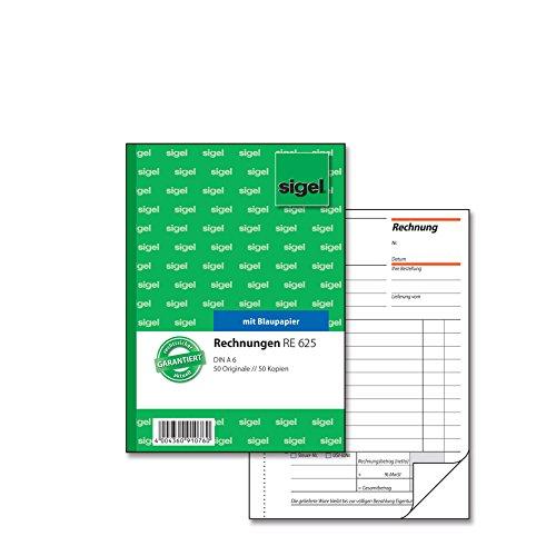 Sigel RE625 Rechnungen A6, 2x50 Blatt, 1 Stück