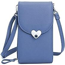 Bandolera para Mujer,Bolso de Hombro Cuero pequeño Bolso De Mano Crossbody Bag con Correa