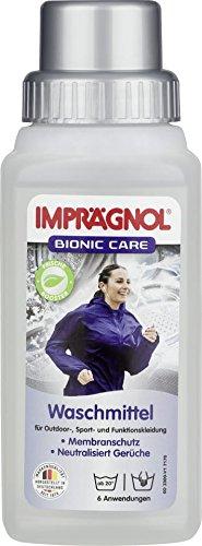 Imprägnol Bionic Care Waschmittel 250ml: Sauberkeit und Wäscheschutz für jede Wetterlage - idealer Kleidungsschutz für Outdoor,- Sport- und Funktionskleidung, PFC-frei