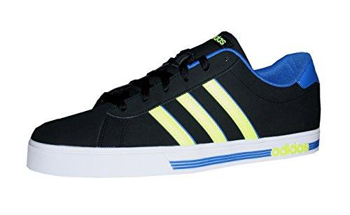 Adidas Herren Daily Team Turnschuhe, Blau, EU Schwarz / Gelb / Blau (Negbas / AMASOL / Blau)