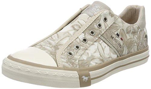 MUSTANG Shoes Sneaker in Übergrößen beige 1146-402-4 große Damenschuhe, Größe:45