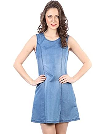 IRALZO Denim Tunic Dress