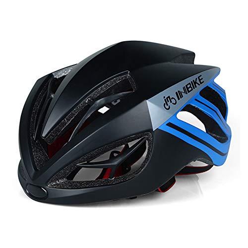 Helm Radfahren Fahrradhelm Magnetische Brille Mountain Road Bike Sonnenbrille Radfahren GläSer 3 Objektiv Bike (56-62cm Kopfumfang),B