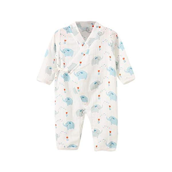 YWLINK Bebé ReciéN Nacido Mono De Dibujos Animados De Frutas De Manga Larga Pijama De Kimono De Gasa Mezcla De AlgodóN… 1