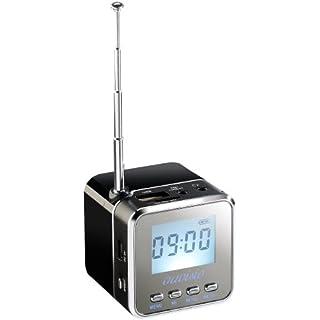 auvisio Radiowürfel: Mini-MP3-Station mit integriertem FM-Radio, USB-/SD-Karten-Slot, 8 W Radio