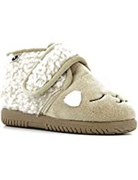 Victoria 05119 - Zapatillas infantil niña pelo beige belcro 22