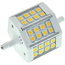SODIAL(R) R7s 78mm Bombilla 24 5050 SMD LED en Blanco 400LM Lamp Bulb