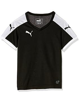 Puma Hose Pitch Short Sleeve Shirt, Camiseta de Fútbol para Niños, Negro (Black-White), 15-16 Años (Talla del...