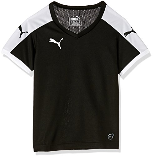 Puma Unisex-Kinder T-Shirt Pitch, schwarz (Black-White), Gr. 9-10 Jahre (Herstellergröße: 140)