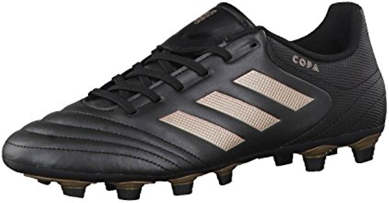 adidas Schnitt 17,4 FXG Fußballschuhe für Herren, Schwarz – (Negbas/cobmet/Negbas) 48 2/3 -