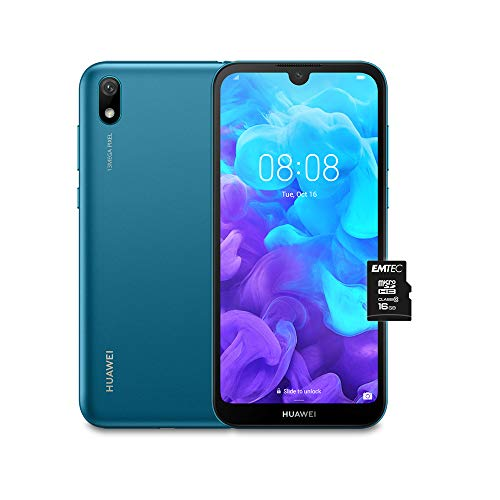 """Foto Huawei Y5 2019 (Blu) più Microsdhc 16GB Class 10, Telefono con 16 GB, Display 5.71"""" HD+, Processore Quad Core [Versione Italiana]"""