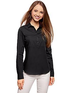 [Sponsorizzato]oodji Ultra Donna Camicia Basic con Tasche sul Petto