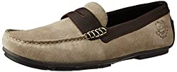 U.S. Polo Assn. Mens Grey (01) Leather Loafers and Moccasins - 10 UK/India (44 EU)