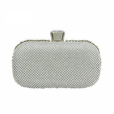 Frauen elegante Hochwertige Luxus Diamanten Abend Tasche Silver