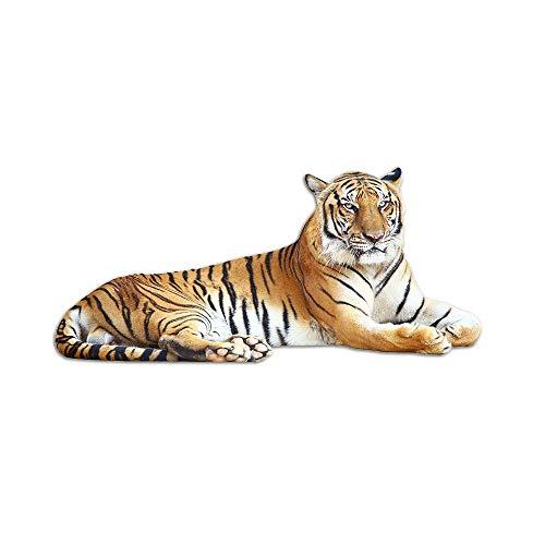 GRAZDesign Tapetensticker Tiger liegend - Wanddeko Wandaufkleber Wildkatze Dschungel - Wandsticker Deko Aufkleber Raubtier / 124x57cm / 723037_57